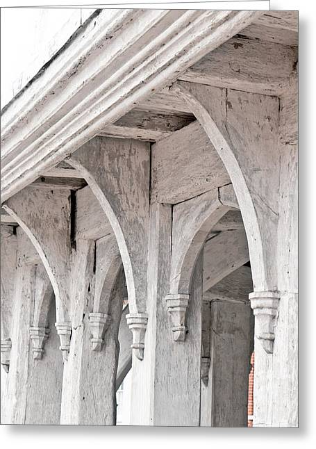 Medieval Architecture Greeting Card by Tom Gowanlock