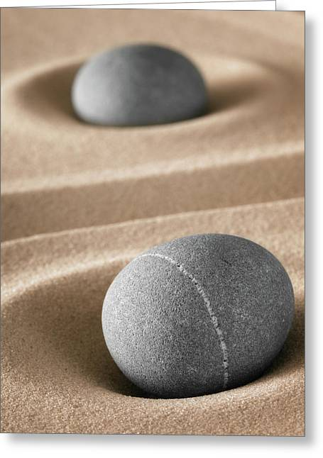Greeting Card featuring the photograph Meditation Stones by Dirk Ercken