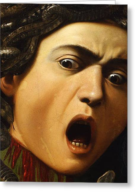 Medusa Greeting Card by Caravaggio