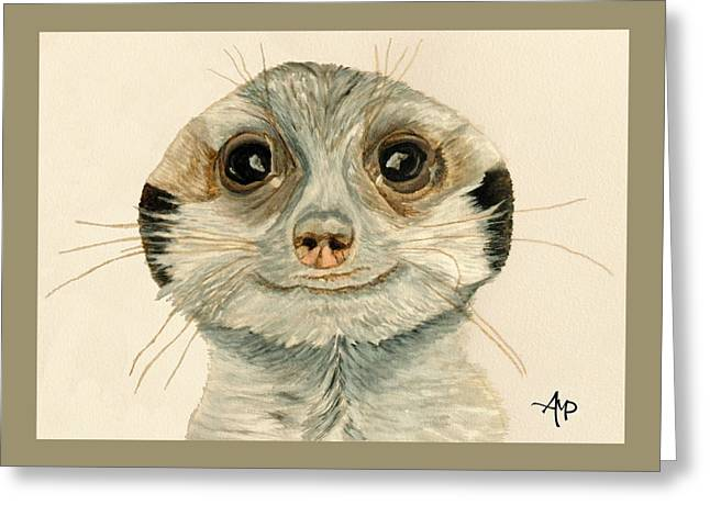 Meerkat Watercolor Greeting Card