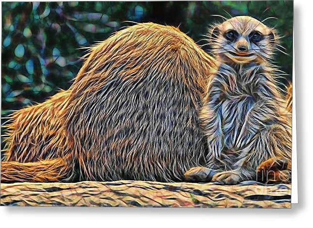 Meerkat Greeting Card by Marvin Blaine