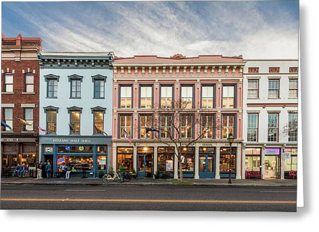 Greeting Card featuring the photograph Meeting Street - Charleston, South Carolina by Carl Amoth