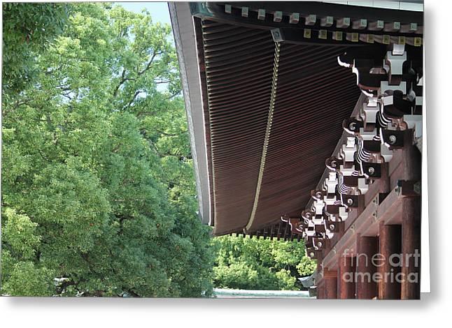 Meiji Shrine Greeting Card by Wilko Van de Kamp