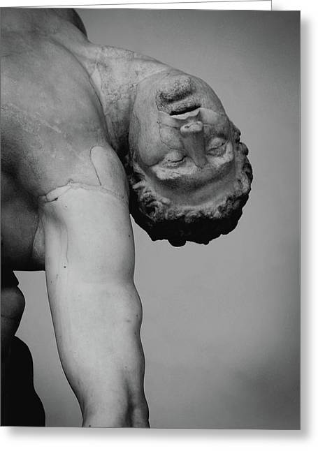 Menelaus Supporting The Body Of Patroclus Greeting Card by Stephanie Gaveau