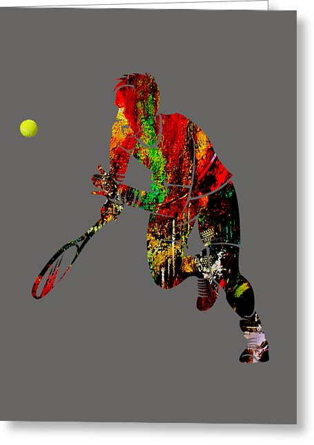 Mens Tennis Collection Greeting Card by Marvin Blaine