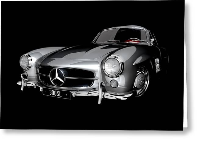 Mercedes-benz 300sl Greeting Card by Dan Lennard