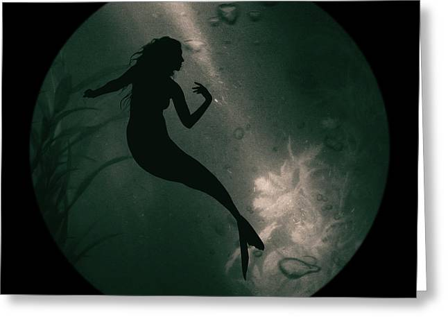 Mermaid Deep Underwater Greeting Card