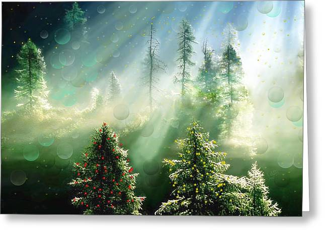 Merry Christmas Greeting Card by Angela A Stanton