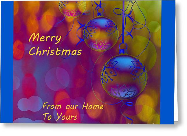 Merry Christmas Greeting Card by Beverly Guilliams