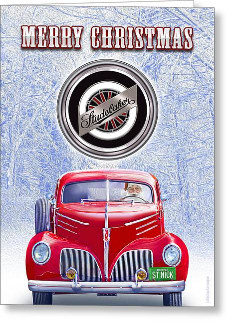 Merry Christmas Studebaker  Greeting Card