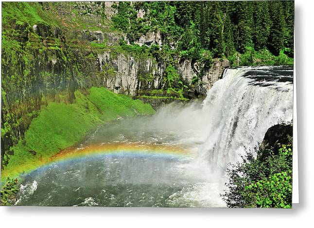 Mesa Falls Greeting Card by Greg Norrell