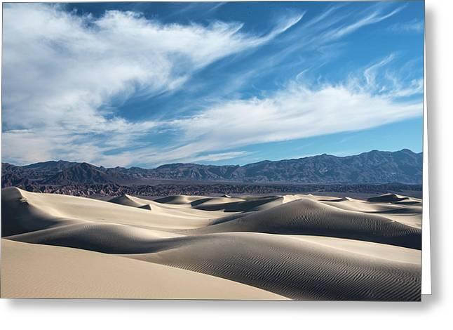 Mesquite Flat Dunes 1969 Greeting Card