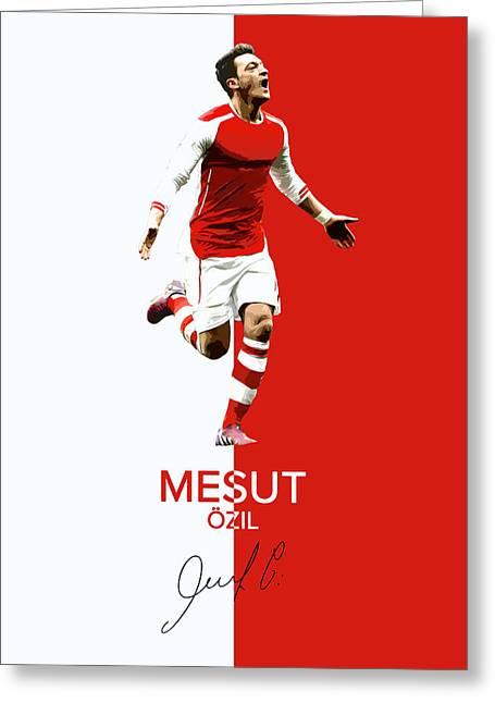 Mesut Ozil Greeting Card by Semih Yurdabak