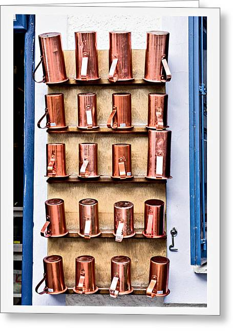 Metal Cups Greeting Card by Tom Gowanlock