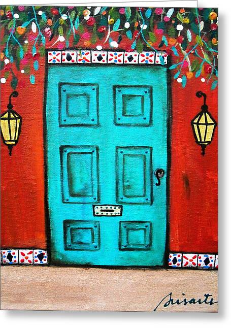 Mexican Door Painting Greeting Card