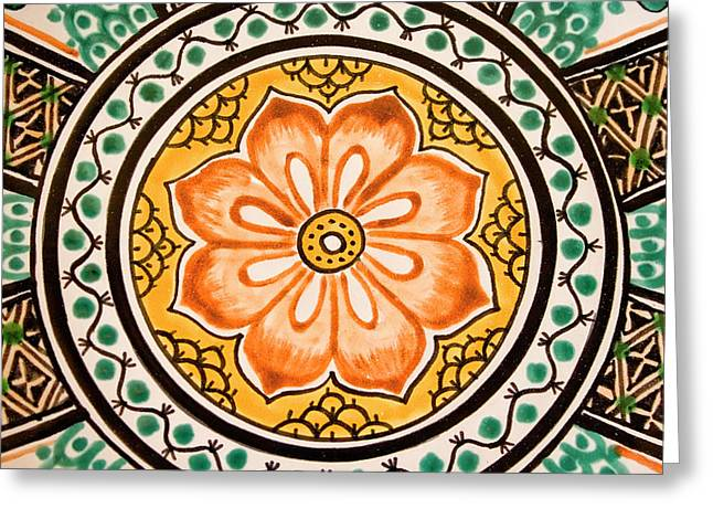 Mexican Tile Detail Greeting Card by Carol Leigh