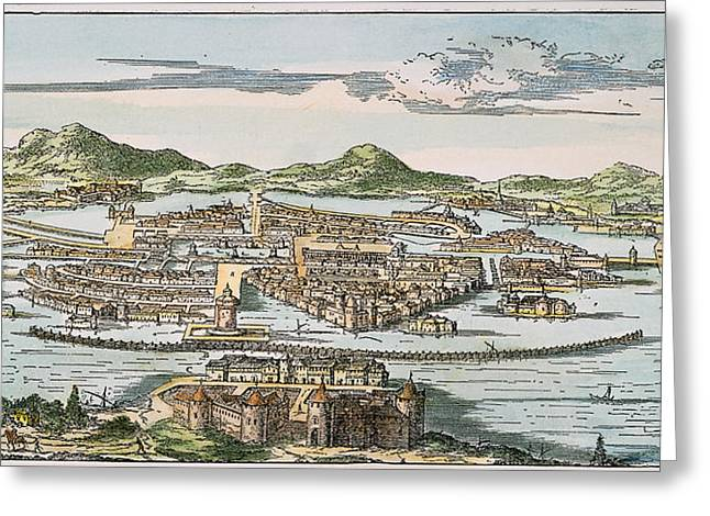 Mesoamerica Greeting Cards - Mexico City, 1671 Greeting Card by Granger