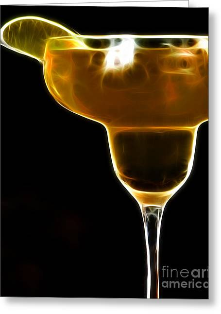 Mexico Gold . Lime Margarita Greeting Card