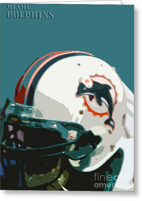 Miami Dolphins Football Team Greeting Card by Pablo Franchi