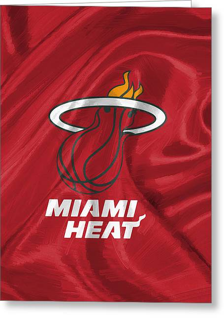 Miami Heat Greeting Card by Afterdarkness