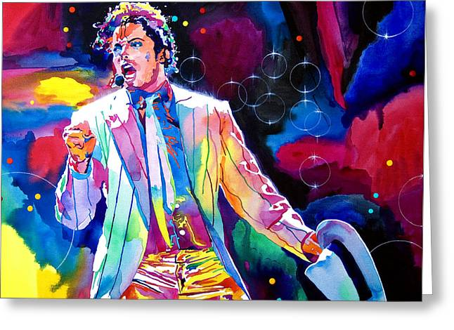 Michael Jackson Smooth Criminal Greeting Card by David Lloyd Glover