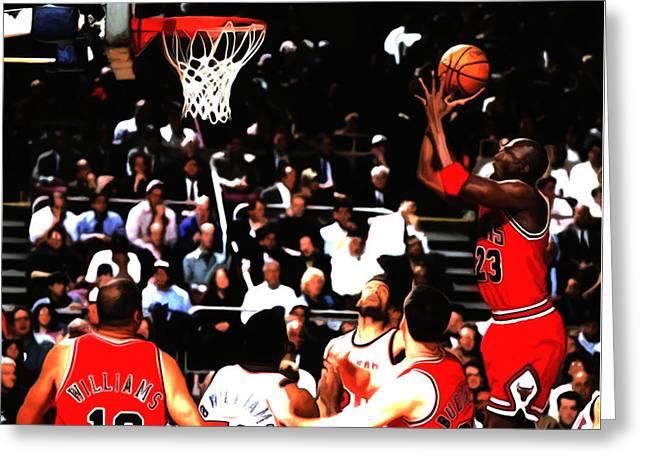 Michael Jordan Soft Touch Greeting Card