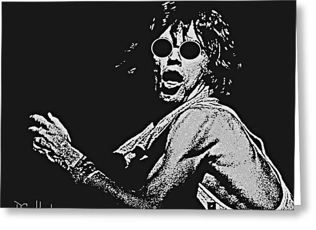 Mick Jagger Greeting Card by Dave Gafford