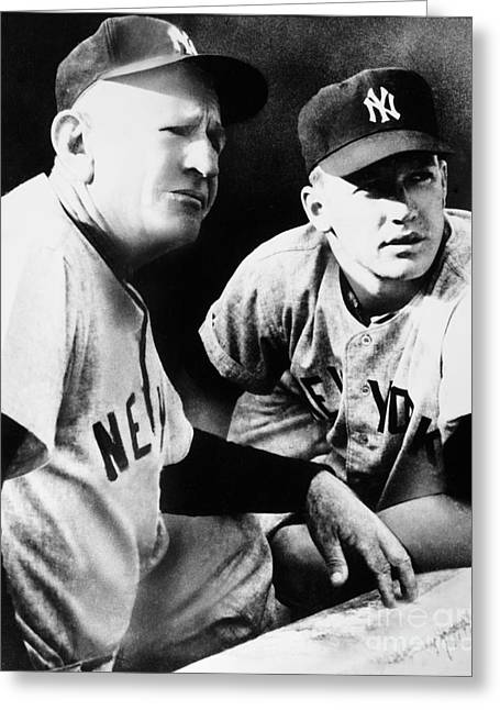 Mickey Mantle (1931-1995) Greeting Card by Granger