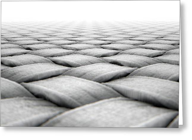 Micro Fabric Weave Greeting Card by Allan Swart