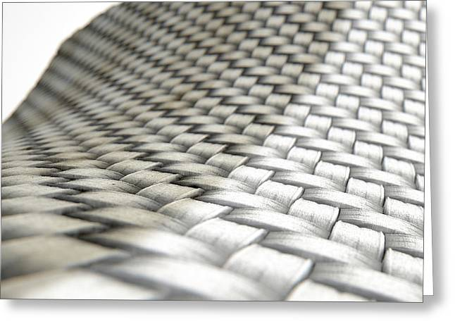 Micro Fabric Weave Comparison Greeting Card by Allan Swart