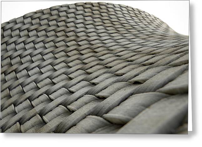 Micro Fabric Weave Dirty Greeting Card by Allan Swart