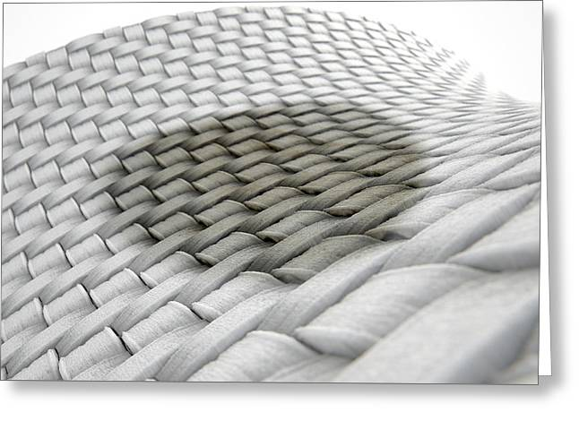 Micro Fabric Weave Stain Greeting Card by Allan Swart