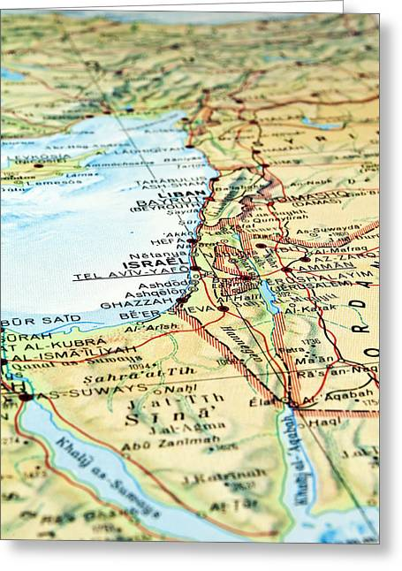 Middle East Map. Greeting Card