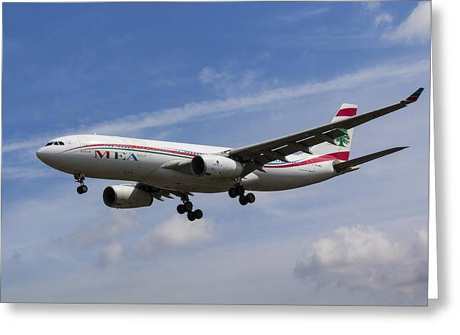 Middle Eastern Airlines Airbus A330 Greeting Card