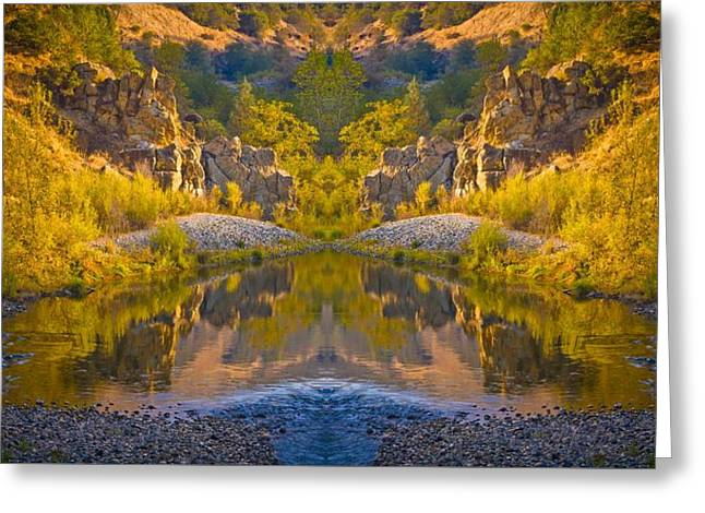 Greeting Card featuring the photograph Middle Fork Magic 2 by Sherri Meyer