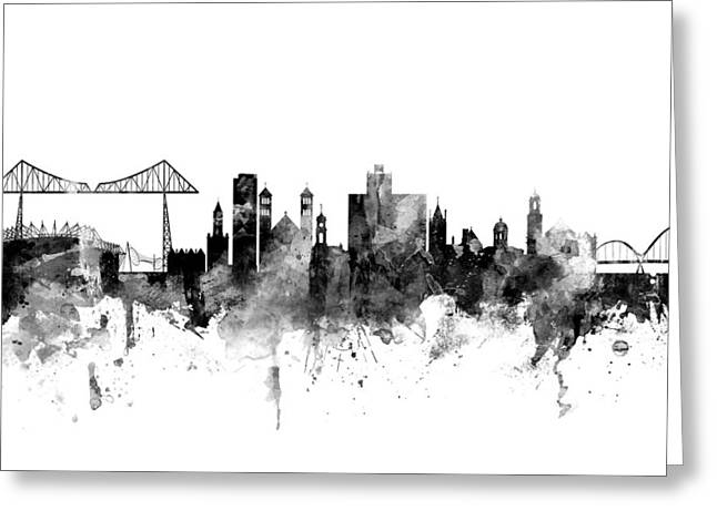 Middlesbrough England Skyline Greeting Card