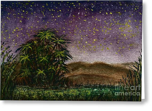 Midnight At The Oasis Greeting Card
