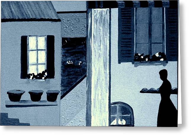 Midnight In Limoux Greeting Card by Bill OConnor