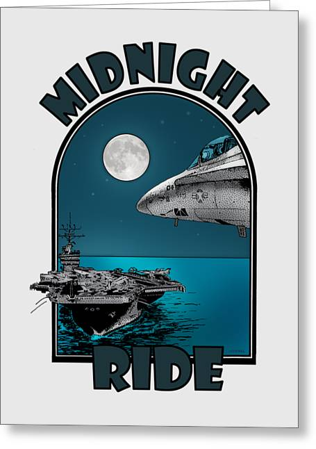 Midnight Ride Greeting Card by Joseph Juvenal