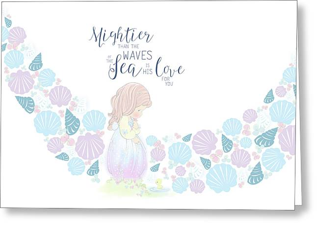 Mightier Than The Waves Greeting Card