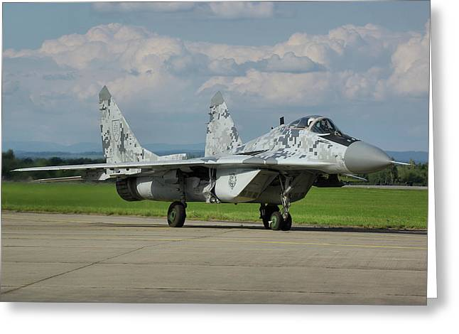 Greeting Card featuring the photograph Mikoyan-gurevich Mig-29as by Tim Beach