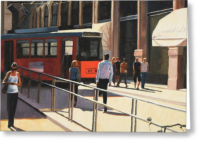 Milan Trolley Greeting Card