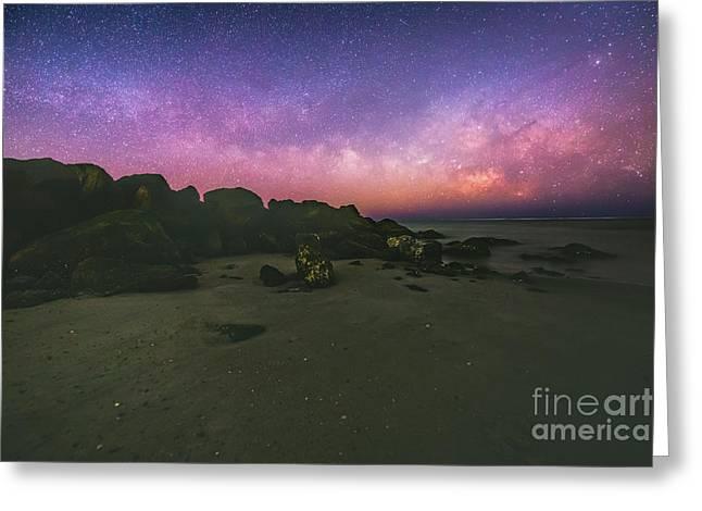 Milky Way Beach Greeting Card