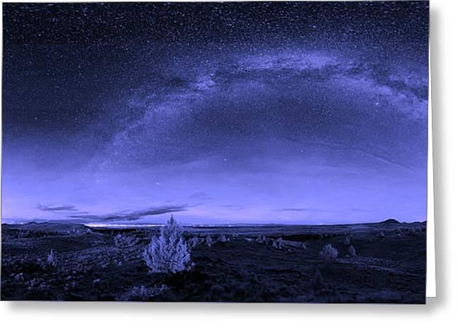 Milky Way Heaven Greeting Card by Skeeze