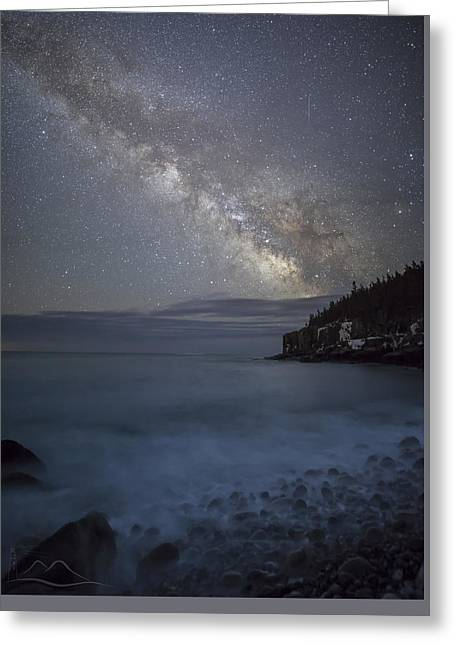 Milky Way In Maine Greeting Card by Chad Tracy