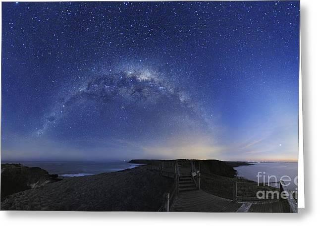 Milky Way Over Phillip Island, Australia Greeting Card by Alex Cherney, Terrastro
