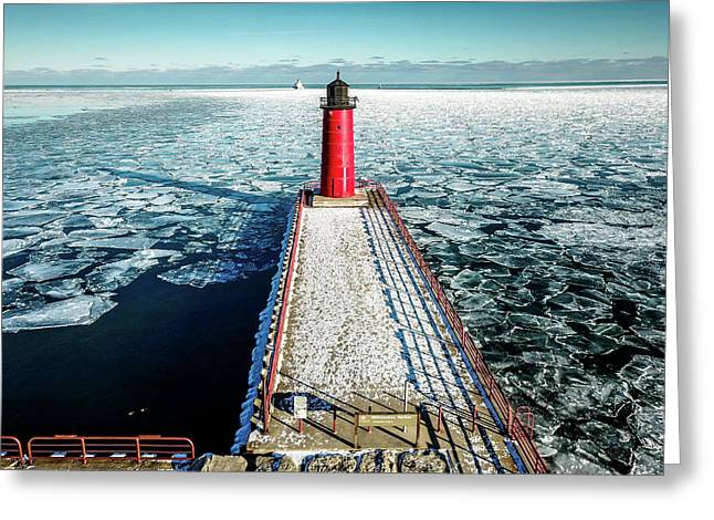 Greeting Card featuring the photograph Milwaukee Harbor by Randy Scherkenbach