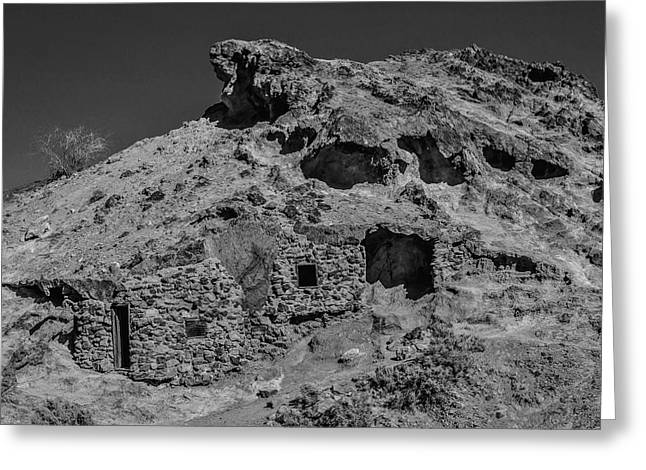 Miners Hut In The Hillside Greeting Card