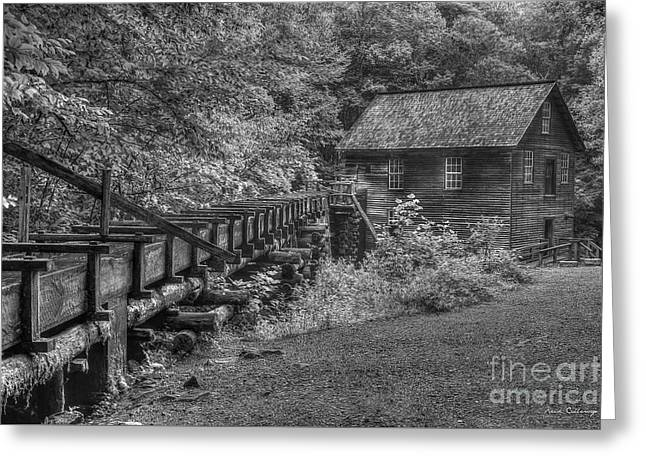 Greeting Card featuring the photograph Mingus Mill 3 Mingus Creek Great Smoky Mountains Art by Reid Callaway