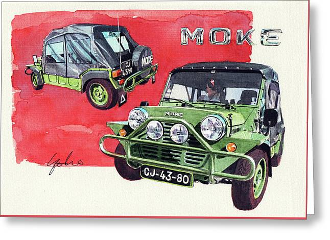 Mini Moke Greeting Card